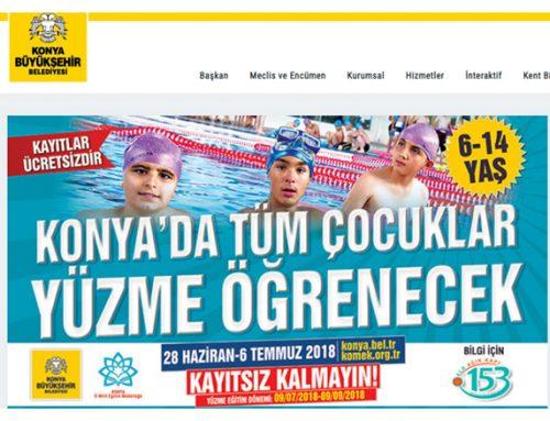 Konya'da Tüm Çocuklar Yüzme Öğrenecek